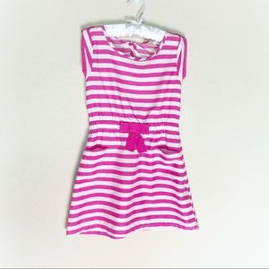 Faded Glory pink and white stripped dress 6/6X